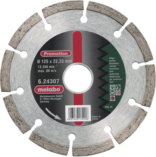 Metabo 624307000 Diamant-doorslijpschijf Promotion 125x22,23 mm