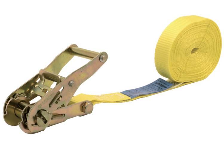 Spanband (eendelig) Trekkracht (lc) vastbinden (enkel direct)=500 daN (l x b) 5 m x 25 mm Wolfcraft 3273000