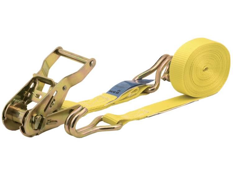Spanband (tweedelig) Trekkracht (lc) vastbinden (enkel direct)=500 daN (l x b) 5 m x 25 mm Wolfcraft 3274000