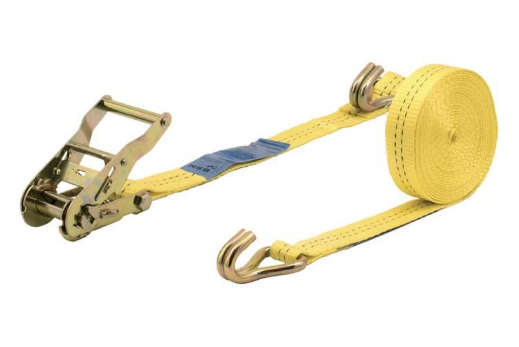 Spanband (tweedelig) Trekkracht (lc) vastbinden (enkel direct)=1000 daN (l x b) 6 m x 35 mm Wolfcraft 3276000