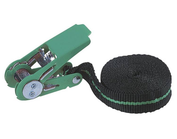 Spanband (eendelig) Trekkracht (lc) vastbinden (enkel direct)=90 daN (l x b) 4 m x 25 mm Wolfcraft 3418000
