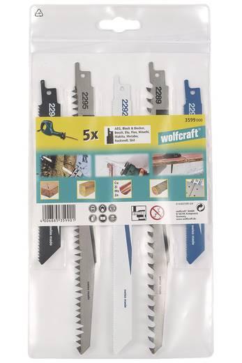 Wolfcraft 3599000 5 reciprozaagbladen