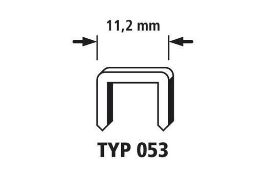 2000 nieten met brede rug 2000 stuks Wolfcraft 7026000 Klemtype 053 Afm. (b x h) 11.2 mm x 6 mm