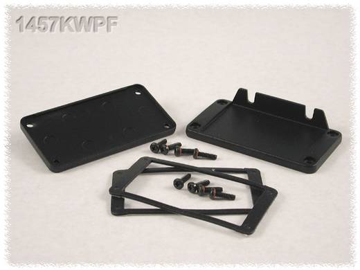 Hammond Electronics 1457KWPF Eindplaat met flens (l x b x h) 12 x 84 x 44 mm Aluminium Zwart 1 stuks