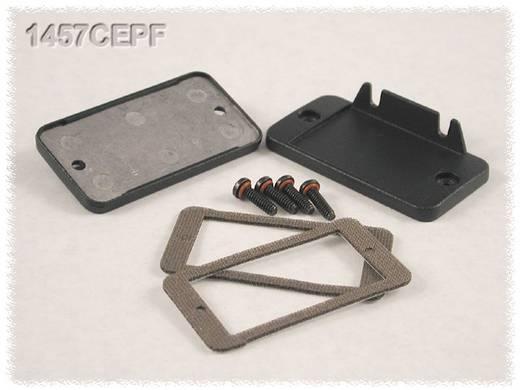 Hammond Electronics 1457CEPF Eindplaat met flens (l x b x h) 12 x 59 x 31 mm Aluminium Zwart 2 stuks