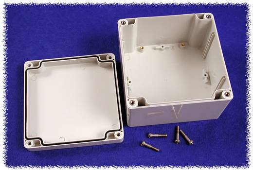 Hammond Electronics 1554P2GY Universele behuizing 120 x 120 x 80 Polycarbonaat Grijs 1 stuks