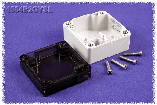Hammond Electronics 1554B2GYSL Universele behuizing 65 x 65 x 40 Polycarbonaat Grijs 1 stuks