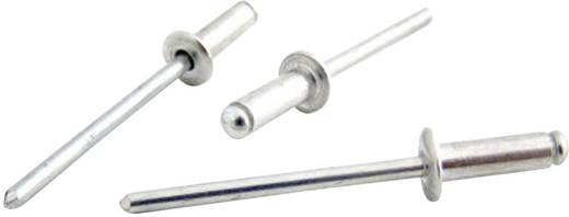 Bralo Blindklinknagel roestvrij staal/roestvrij staal platbolkop kleinverpakking 8 mm RVS/RVS 25 stuks