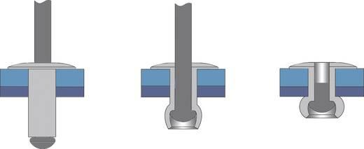 Bralo Blindklinknagel roestvrij staal/roestvrij staal platbolkop kleinverpakking 14 mm RVS/RVS 25 stuks
