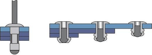 Bralo Blindklinknagel MULTIGRIP grote platbolkop aluminium/RVS 17 mm Aluminium/RVS 150 stuks