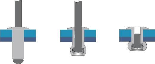 Blindklinknagel (Ø x l) 4 mm x 18 mm Staal Aluminium Bralo S1010004018 50 stuks
