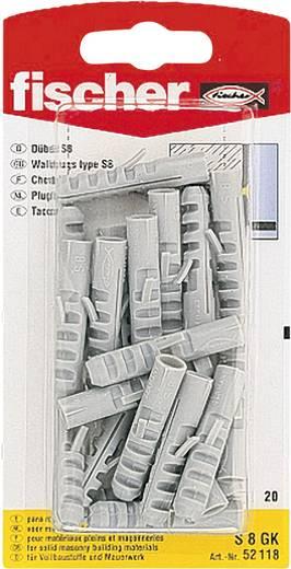 Fischer 52118 fischer pluggen S Nylon 8 mm 20 stuks