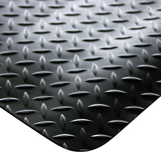 COBA Europe DP010005C Werkruimtemat Deckplate zwart (Stukgoed) 1 m
