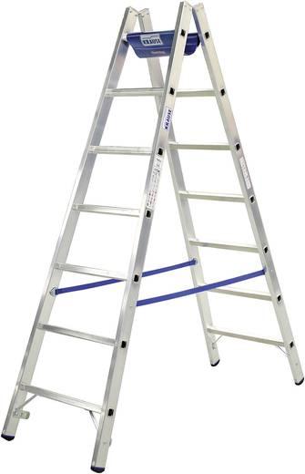 Aluminium Ladder incl. gereedschapsvlak Werkhoogte (max.): 3.05 m Krause 124906W Zilver, Blauw 6.3 kg