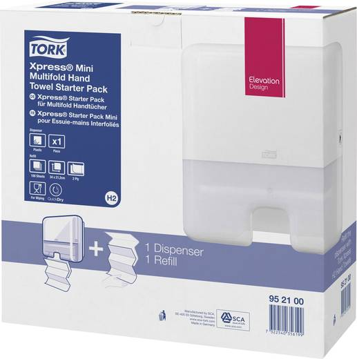 TORK 952100 Tork Elevation Starter Pack handdoekdispenser Interfold Mini C&C Kunststof 1 stuks