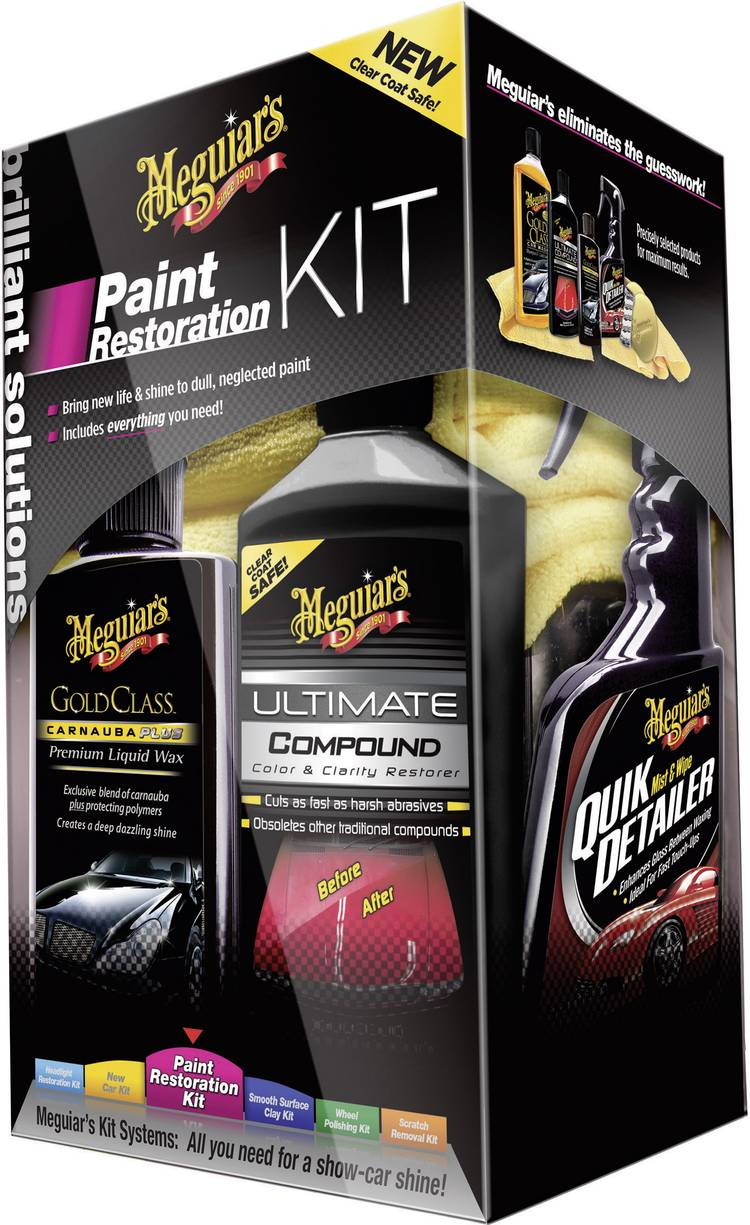 Image of Brilliant Solutions Paint Restoration KIT 1 set Meguiars Paint Restoration Kit BrilliantSolutions G3300
