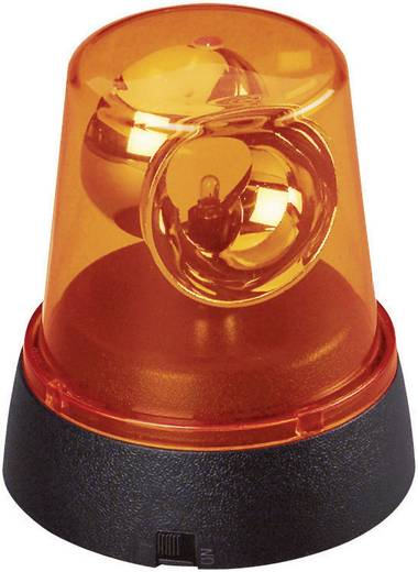 Feestverlichting LED mini zwaailicht 00549 Geel-oranje LED vast ingebouwd