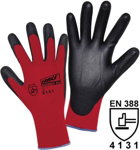 worky 1177 SKINNY PU superdunne fijn gebreide handschoen 100% nylon met PU-coating Maat 8