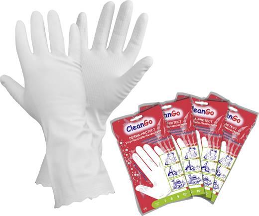 CleanGo 1462 DERMA-PROTECT vinyl huishoudhandschoen Vinyl Maat (handschoen): 7, S