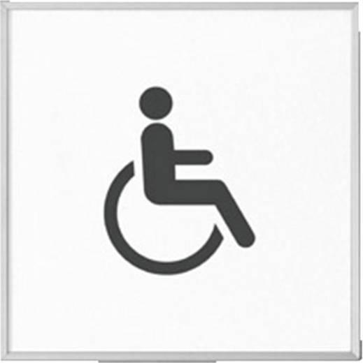 Madrid deurbordje 120 met pictogram toilet gehandicapten 120 mm x 120 mm