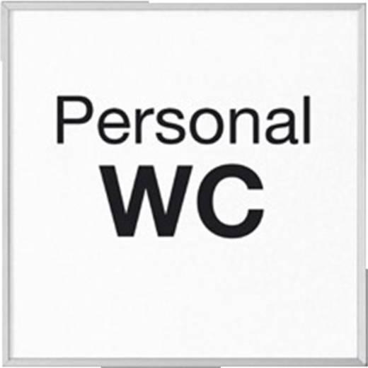 """Madrid deurbordje 120 met tekst """"Personal WC"""" 120 mm x 120 mm"""