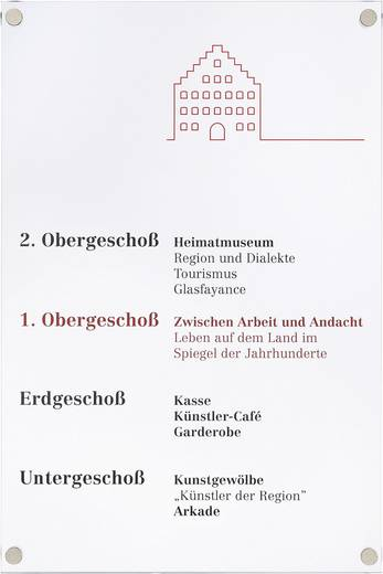 Moedel Türschild Gallery A4 I7706E4s (l x b) 297 mm x 210 mm