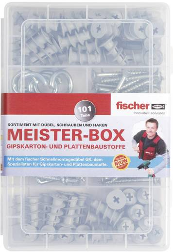Fischer 513892 Meister-Box met GK-pluggen, schroeven, haakse en ronde haken 101 onderdelen