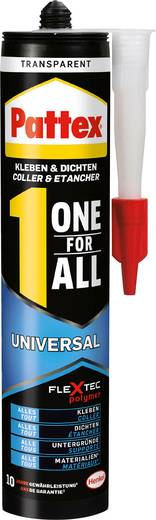 Pattex Lijmen & afdichten One for All Montagelijm Kleur: Transparant 310 g