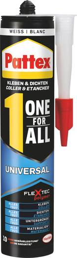 Pattex Lijmen & afdichten One for All Montagelijm Kleur: Wit 420 g