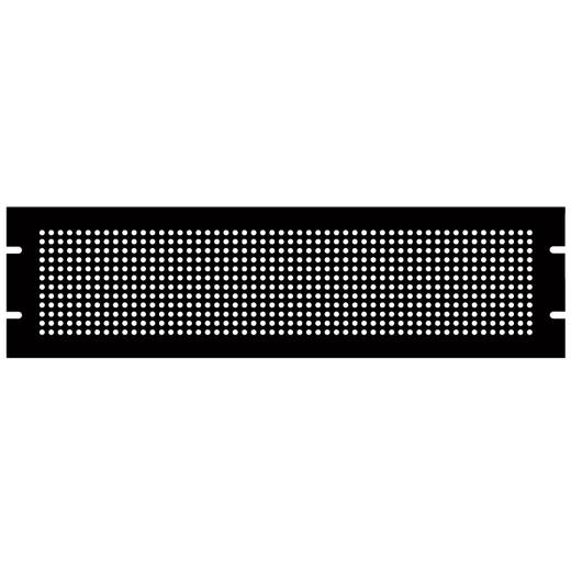 Hammond Electronics PPFS19008BK2 Montageplaat (l x b x h) 483 x 2 x 222 mm Plaatstaal Zwart 1 stuks