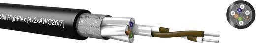 Kabeltronik 531826700 Netwerkkabel CAT 7 S/FTP 4 x 2 x 0.13 mm² Zwart Per meter