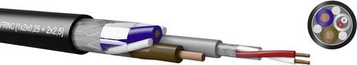 Kabeltronik 720H20000 Combinatiekabel 1 x 2 x 0.25 mm² + 2 x 2.50 mm² Zwart Per meter