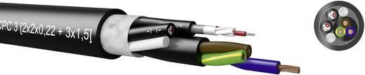 Kabeltronik 720050000 Combinatiekabel 4 x 0.22 mm² + 3 G 1.50 mm² Zwart Per meter