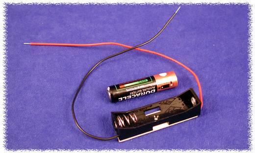 Hammond Electronics BH1AAAW Batterijhouder 1x AAA Kunststof Zwart 1 stuks