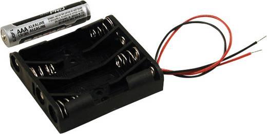 Hammond Electronics BH4AAAW Batterijhouder 4x AAA Kunststof Zwart 1 stuks