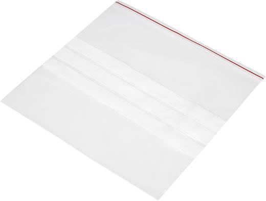 Ziplock zak met etiketstrook (b x h) 250 mm x 250 mm Transparant Polyethyleen