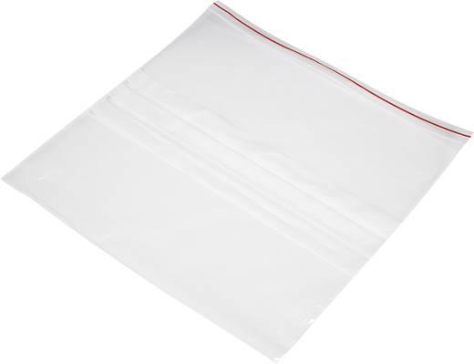 Ziplock zak met etiketstrook (b x h) 300 mm x 300 mm Transparant Polyethyleen