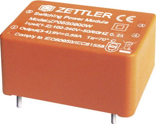Zettler Magnetics ZP05S0900W AC/DC printnetvoeding 9 V/DC 0.555 A 5 W