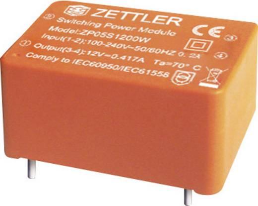 Zettler Magnetics ZP05S1200W AC/DC printnetvoeding 12 V/DC 0.417 A 5 W