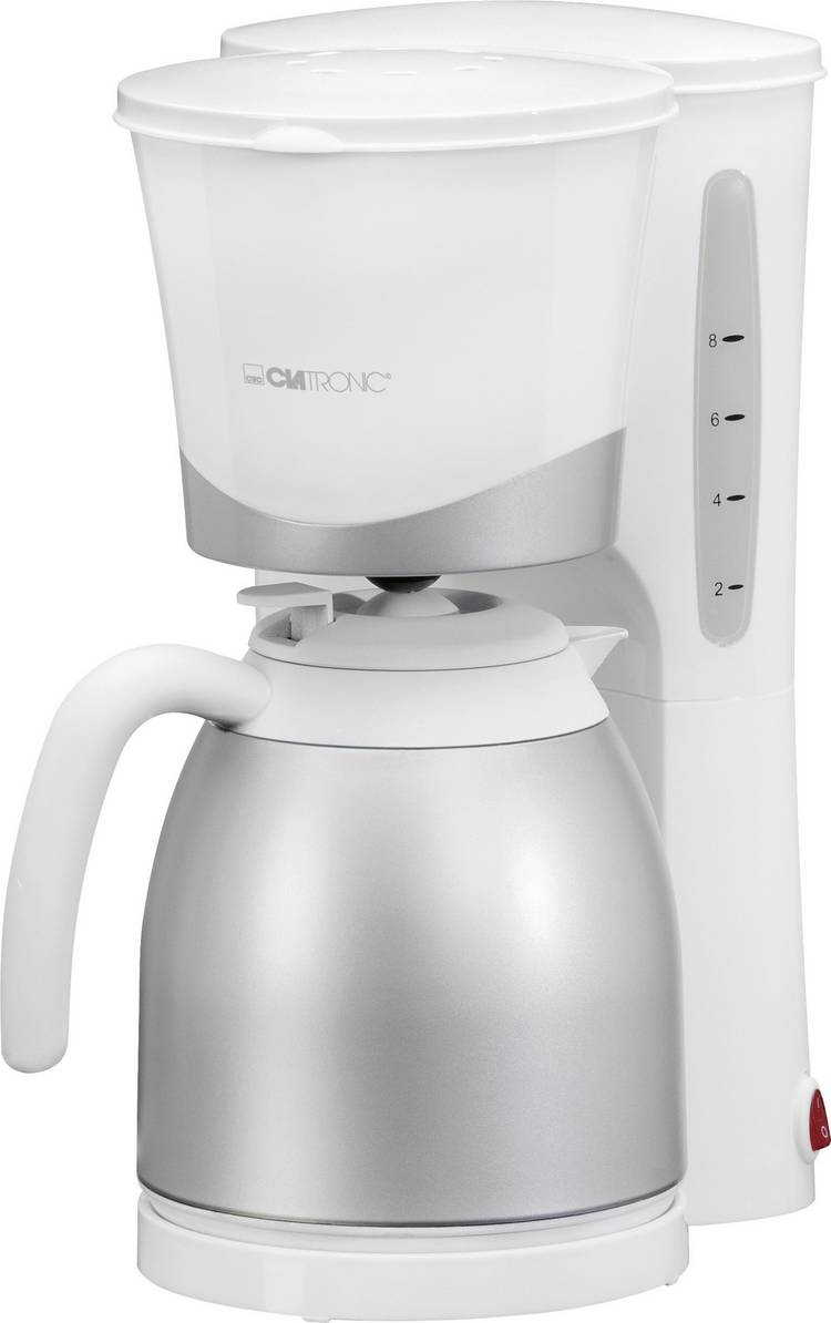 Image of Koffiezetapparaat Clatronic KA 3327 Wit 870 watt Capaciteit koppen=10 Thermoskan