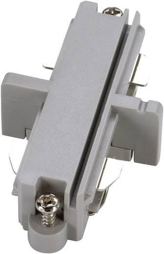 SLV 143092 230V-railsysteemcomponenten Koppelstuk 1-fasig Zilver-grijs