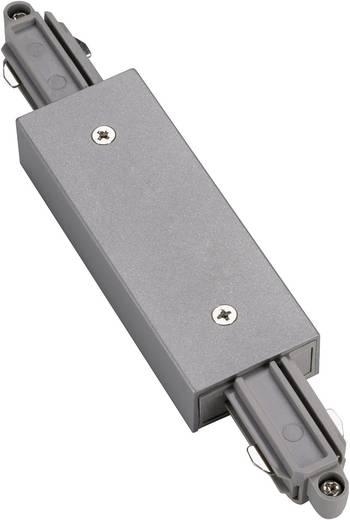 SLV Längsverbinder 143102 230V-railsysteemcomponenten Koppelstuk 1-fasig Zilver