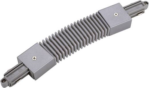 SLV 143112 230V-railsysteemcomponenten Flexverbinder 1-fasig Zilver-grijs