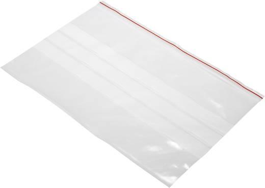 Ziplock zak met etiketstrook (b x h) 300 mm x 200 mm Transparant Polyethyleen