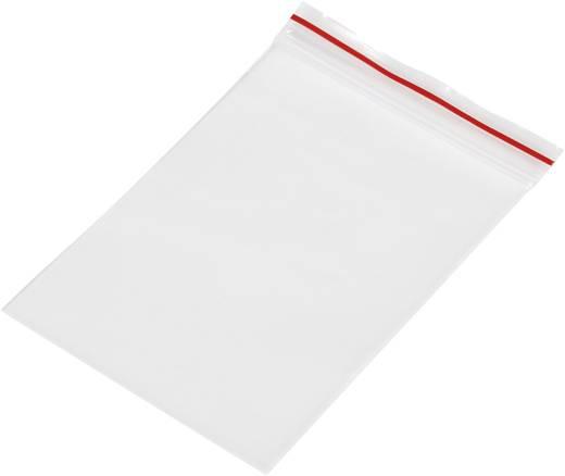 Ziplock zak zonder etiketstrook (b x h) 50 mm x 75 mm Transparant Polyethyleen
