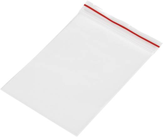 Ziplock zak zonder etiketstrook (b x h) 60 mm x 80 mm Transparant Polyethyleen