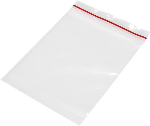 Ziplock zak zonder etiketstrook (b x h) 80 mm x 120 mm Transparant Polyethyleen
