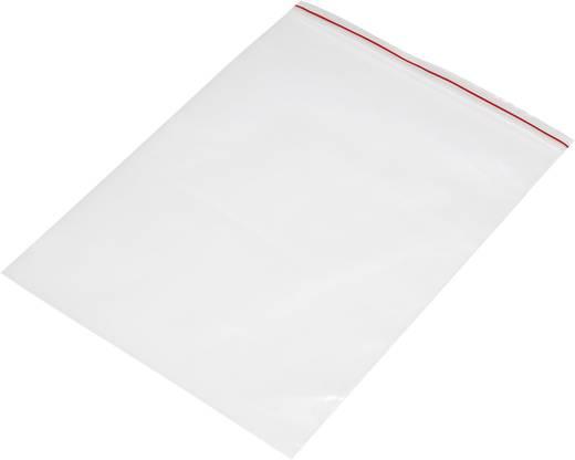 Ziplock zak zonder etiketstrook (b x h) 180 mm x 250 mm Transparant Polyethyleen