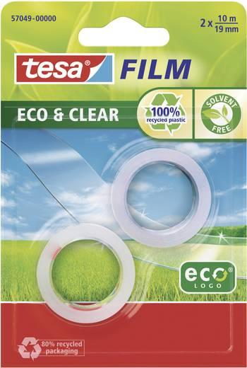 tesa tesafilm Eco & Clear tesafilm Transparant (l x b) 10 m x 19 mm Inhoud: 2 rollen
