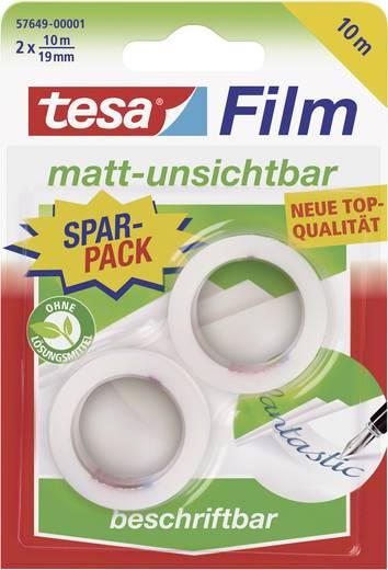 tesa tesafilm tesafilm Transparant (l x b) 10 m x 19 mm Inhoud: 2 rollen